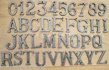 """3 """"/ 75mm Fonte Forgé Fer Antique Maison Porte Lettres Alphabet Chiffres"""