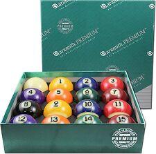 "ARAMITH PREMIUM BRAND NEW BELGIAN STYLE POOL TABLE BILLIARD GAME BALL SET 2 1/4"""