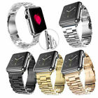 Stainless Steel Wrist Bracelet Clasp iWatch Band for Apple Watch 38mm/42mm USA