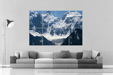 MONTAGNES SNOW MOUNTAINS 07 Wall Art Poster Grand format A0 Large Print