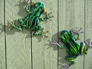 Garden Frog Wall Art - Two Garden Frogs Wall Ornaments