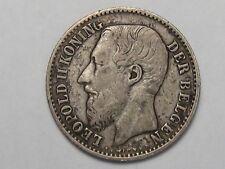 1866 Belgium 1 Franc.  #42