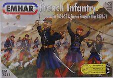 EMHAR Infantería francés de 7211 guerra de Crimea & Franco Prusiano guerra 1:72 figuras