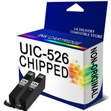 2 CHIPPED CLI-526 Grey INK CARTRIDGES FOR CANON PIXMA MG6150 MG8150