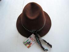 ROXY Women's Brown Western Style Fedora Wool Hat NWT