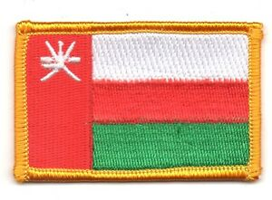 OMAN FLAG PATCH PATCHES BADGE IRON ON NEW EMBROIDERED