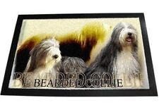 Designer Fußmatte Bearded Collie 2 Beardedcollie Hund Fußabtreter Hundeteppich