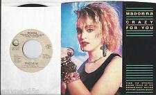 MADONNA * 45 * Crazy For You * 1984 * USA ORIGINAL PS * BERLIN * No More Words