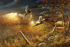 JIM HANSEL FIELD OF DREAMS Pheasant Print 33 x 17