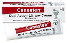 CANESTEN Athletes Foot & Jock Itch Dual Action Clotrimazole Cream Treatment 30g