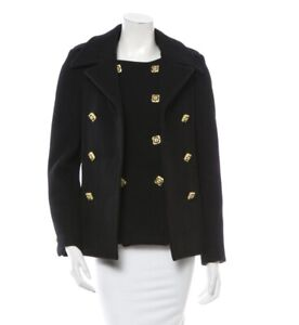Chanel Byzance Collection Black Wool Jacket W/ Gold-tone Gripoix Buttons NWOT