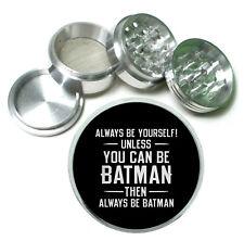 Always Be Batman Rs1 Themed Aluminum Herb Grinder 63mm 4 Piece Hand Mueller