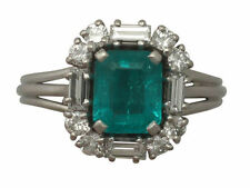 Emerald Cluster Natural Fine Diamond Rings