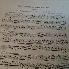 Der Fortschritt des jungen Violinisten * Op. 43 * Jul. Weiss * Noten f. Geige