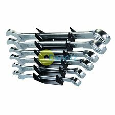 Imperial/Af Combination Spanner Set Open Ended/Ring Chrome Vanadium Steel 6 Pce