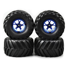 4X Rubber 135mm Tires&Wheel Rims 12mm Hex For RC Car 1:10 Bigfoot Monster Truck