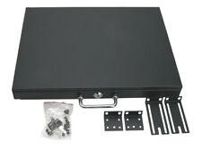 "Cabinet Case 19"" Rack Mount Dj Locking Lockable Deep Drawer with Key 1U"