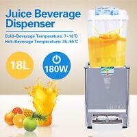 18L Cold / Hot Juice Beverage Dispenser Fruit Ice Tea Frozen Drink