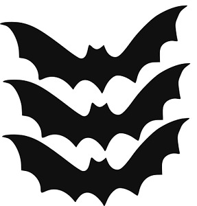 Bat Sticker Vinyl Decal 3 pack Halloween Decorations Trick or treat pumpkins New