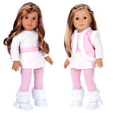 Snowflake - Doll Clothes for 18 inch American Girl, Vest Leggings Tunic Boots
