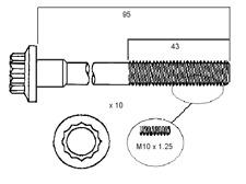 PERMASEAL HEAD BOLTS KIT FOR MITSUBISHI 4G93 1.8L DOHC TURBO LANCER CC GSR 91-96