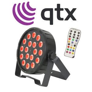 QTX PAR100 3-in-1 DJ Disco RGB LED DMX Par Can Wash Lighting Effect with Remote