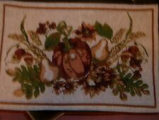 NEW Set of 4  Autumn PUMPKINS FALL  Tapestry Table Placemats