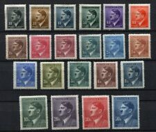 Bohemia and Moravia WW II : Complete large Hitler set from 1942 - mint
