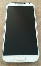 Samsung  Galaxy S4 GT 9505 4g 16GB White Frost Cracked Screen and LCD is black