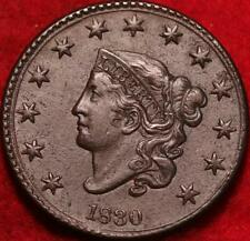 1830  Philadelphia Mint Copper Coronet Head Large Cent