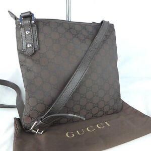 Authentic Rare Gucci Brown GG Canvas Small Crossbody Messenger Shoulder Bag VGC