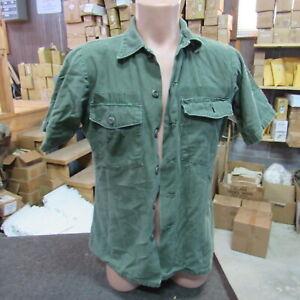 US Army Utility OG507 Shirt sateen Cotton Vietnam original short sleeve (SH20)