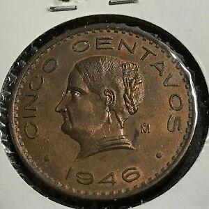 MEXICO 1946 FIVE CENTAVOS NICE UNCIRCULATED COIN