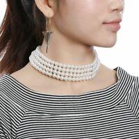 doni le donne gioielli fascino multi - strato collare collana di perle pearl