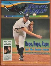 August October 1999 Tampa Bay Devil Rays MLB Baseball Program Unscored Scorecard