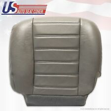 2003 to 2007 Hummer H2 Driver Side Bottom Replacement Leather Seat Cover Gray