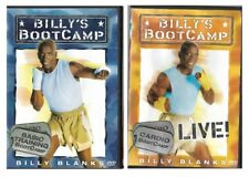 Billy's Bootcamp & Bootcamp Live Billy Blanks 2 Fitness DVDs Basic & Cardio