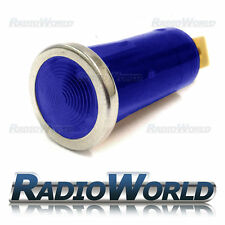 Azul iluminado luz de advertencia lámpara indicadora coche DASH 12v Bisel Cromado