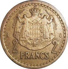 MONACO 2 Francs 1945 KM#121a Louis II - Aluminium-bronze (4170)