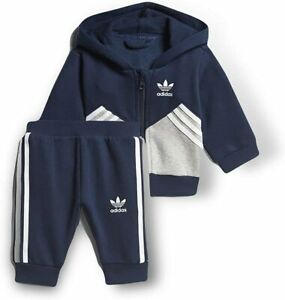 adidas Originals infant navy/grey hooded tracksuit. Various sizes!