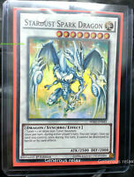 YU-GI-OH HSRD-EN043 Stardust Spark Dragon Super Rare 1st edition Mint Condition