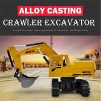 1:24 Scale Heavy Metal Excavator Model Free Wheeler Die Cast Construction Toy ,