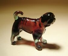 "Blown Glass ""Murano"" Art Figurine Dog PUG"