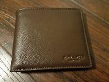 New Coach Men Mahogany Leather Wallet F75084