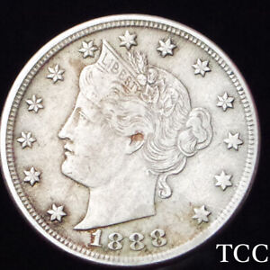 1888 LIBERTY NICKEL 5c V ~ STUNNING ORIGINAL COIN ~ RARE DATE ~ SHIPS FREE TCC