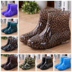 Men Women Rain Waterproof Wellies Wellington Ankle Boots Outdoor Gumboots Size