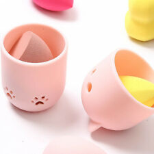 Makeup Sponge Blender Travel Case Silicone Beauty Sponge Drying Holder Box