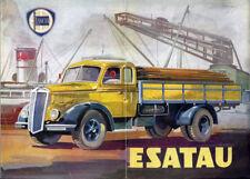 Brochure Depliant Autocarro Lancia Esatau 1948 Italiano Francese Inglese