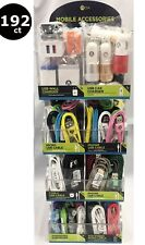 192ct CELLPHONE CABLE CHARGER ACCESSORIES WHOLESALE STORE COUNTER DISPLAY-2PORTS
