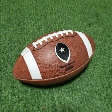 Big Game Junior Size Leather Football - Game Ball for Ages 9-12 (Grades 4-5)
